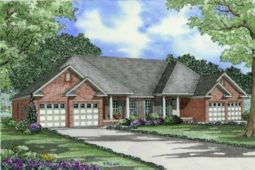 Traditional Style House Plans Plan: 12-375
