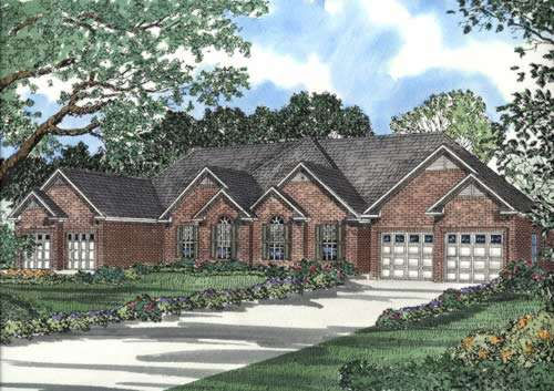Traditional Style Home Design Plan: 12-376