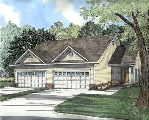 Traditional Style Home Design Plan: 12-377