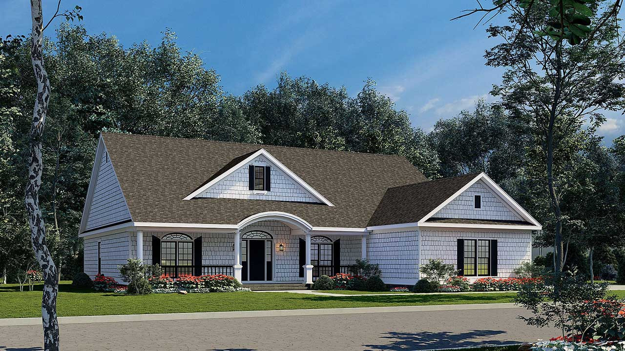 Cottage Style Floor Plans Plan: 12-380