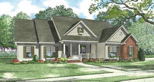 Traditional Style Home Design Plan: 12-387