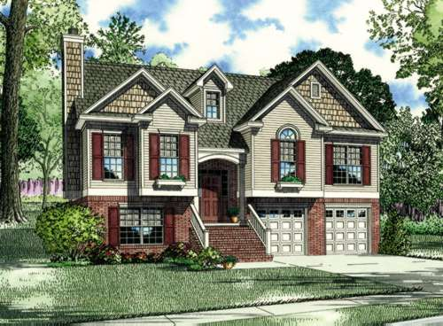 Traditional Style Home Design Plan: 12-389