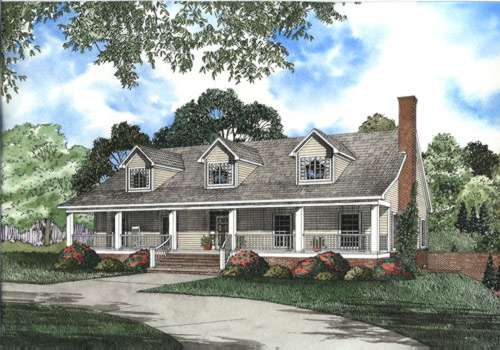 Southern Style Home Design Plan: 12-390