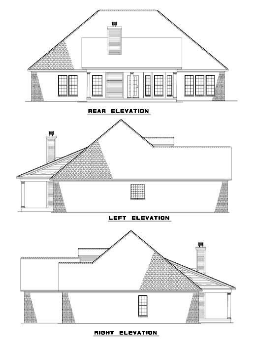Rear Elevation Plan: 12-395