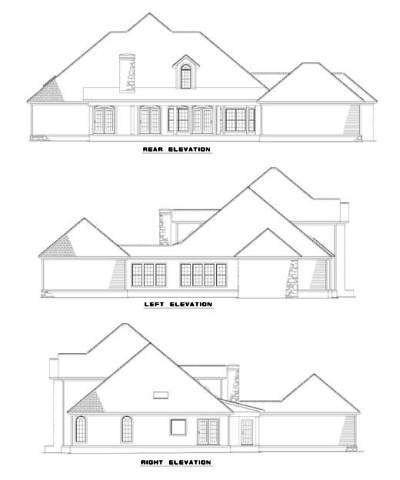 Rear Elevation Plan: 12-396