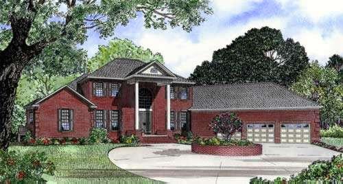 Georgian Style Home Design Plan: 12-397