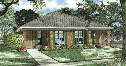 Traditional Style Home Design Plan: 12-399