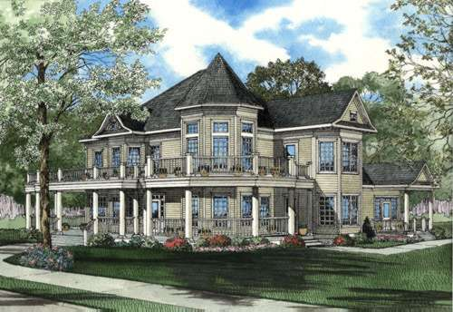 Victorian Style Floor Plans Plan: 12-402
