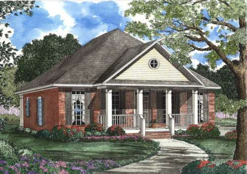 Southern Style Floor Plans Plan: 12-403