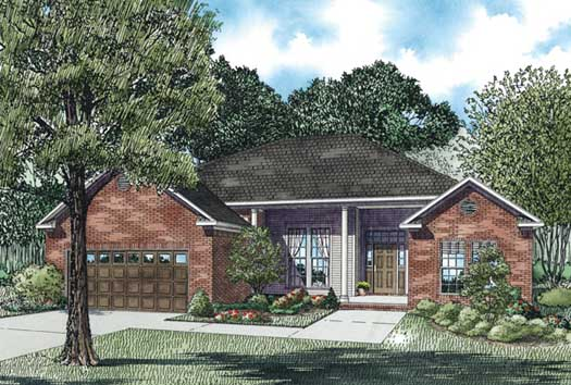 Traditional Style Home Design Plan: 12-404
