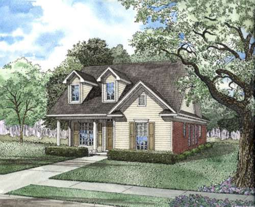 Country Style Home Design Plan: 12-406