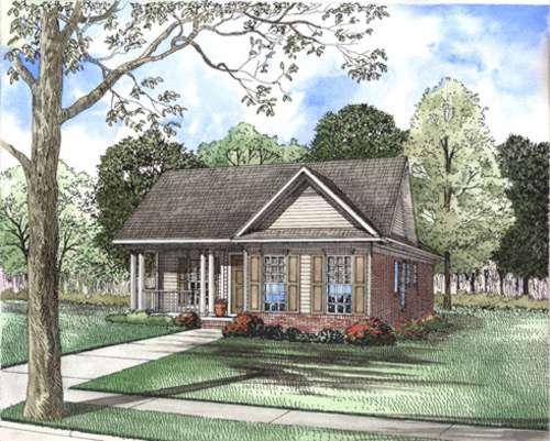 Southern Style Floor Plans Plan: 12-407