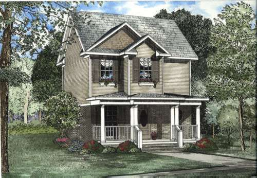 Southern Style Home Design Plan: 12-408
