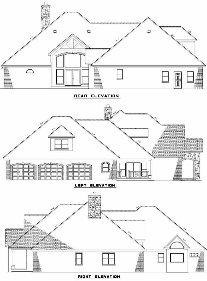 Rear Elevations Plan:12-409