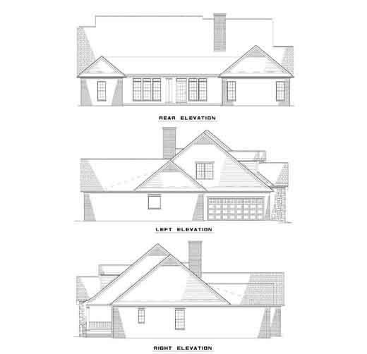 Rear Elevation Plan: 12-410