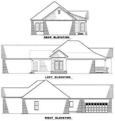 Rear Elevation Plan: 12-412