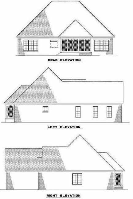 Rear Elevation Plan: 12-415