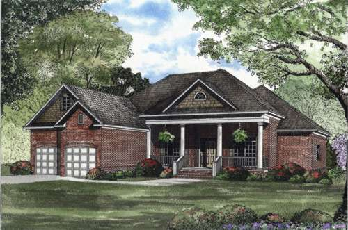 Southern Style Home Design Plan: 12-416