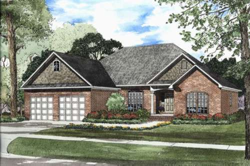 Traditional Style House Plans Plan: 12-417