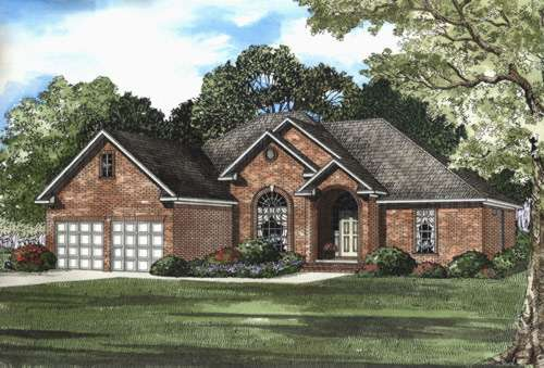Traditional Style Home Design Plan: 12-418