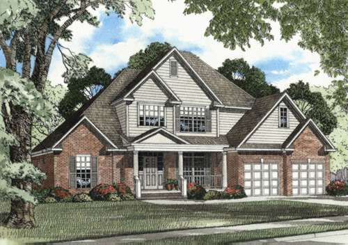 Traditional Style Home Design Plan: 12-419