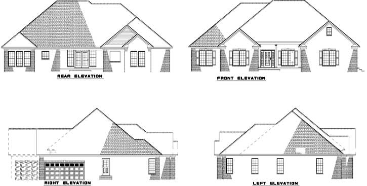 Rear Elevation Plan: 12-422