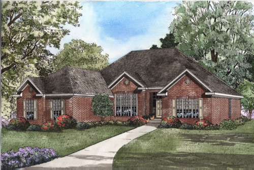 Traditional Style Floor Plans Plan: 12-423