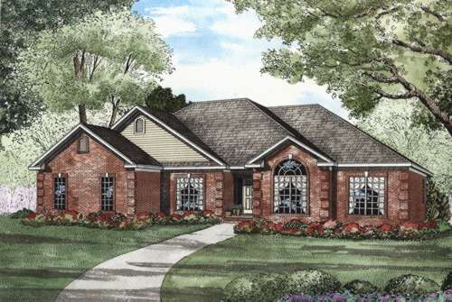 Traditional Style Home Design Plan: 12-425