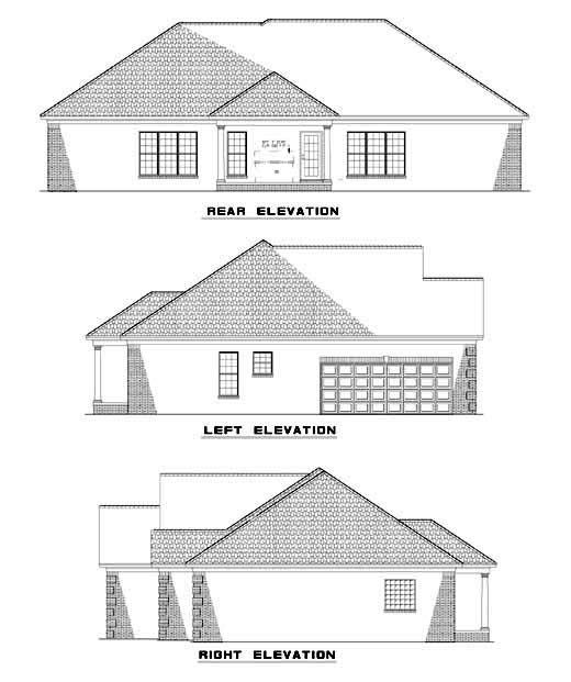 Rear Elevation Plan: 12-425