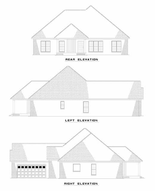 Rear Elevation Plan: 12-427