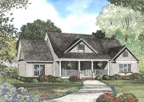 Southern Style Home Design Plan: 12-434