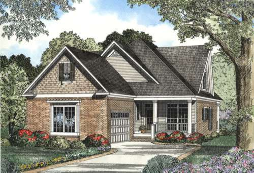 Traditional Style Home Design Plan: 12-437