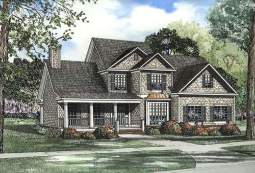 Traditional Style Home Design Plan: 12-442