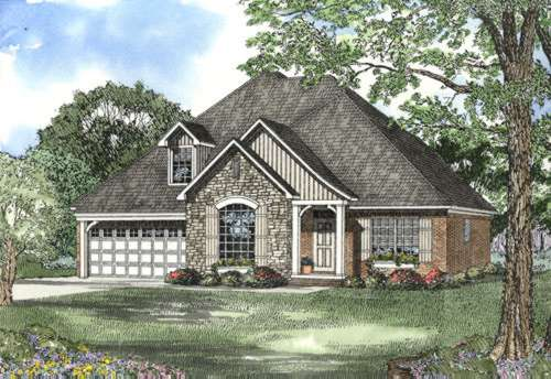 French-country Style House Plans Plan: 12-443