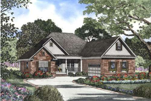 Traditional Style Home Design Plan: 12-444