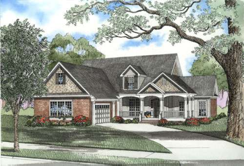 Traditional Style Floor Plans Plan: 12-445