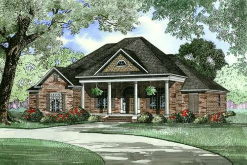 Southern Style Floor Plans Plan: 12-446