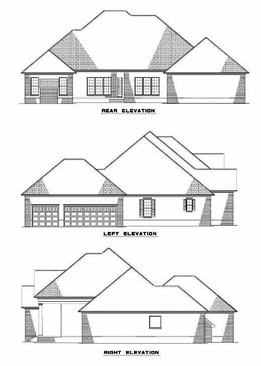 Rear Elevation Plan: 12-446