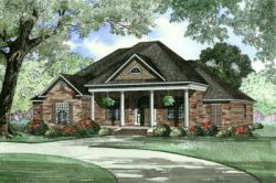 Southern Style Home Design 12-446