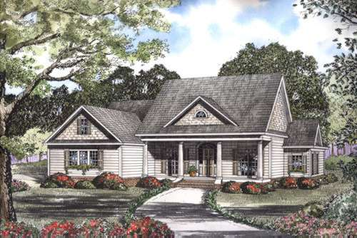 Southern Style Floor Plans Plan: 12-448