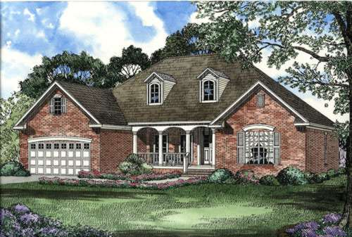 Southern Style Floor Plans Plan: 12-450