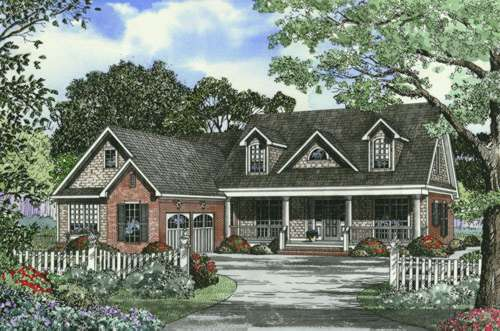 Southern Style Floor Plans Plan: 12-453