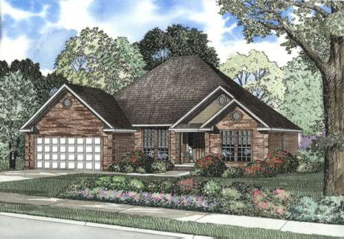 Traditional Style Floor Plans Plan: 12-454