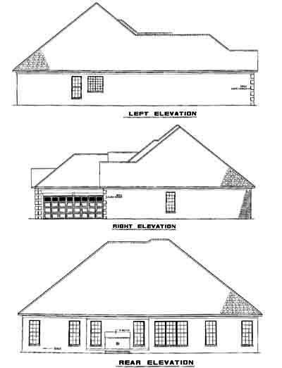 Rear Elevation Plan: 12-455