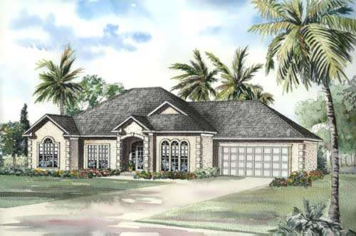 Mediterranean Style House Plans Plan: 12-456