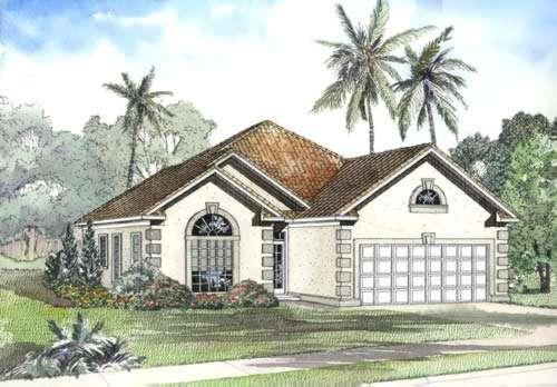Mediterranean Style House Plans Plan: 12-457