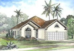 Mediterranean Style House Plans Plan: 12-457