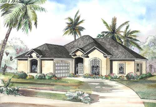 Sunbelt Style House Plans Plan: 12-460