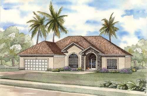 Mediterranean Style House Plans Plan: 12-461