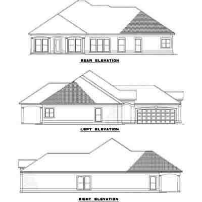 Rear Elevation Plan: 12-465
